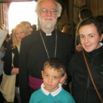 Meeting the then Archbishop of Canterbury.