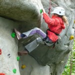 Learning how to climb on the school residential Y3/4